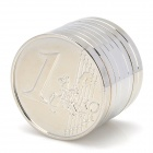 Euro Pattern Zinc Alloy 2-Layer Herb Cigarette Tobacco Grinder - Silver