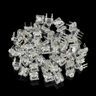 7008 F5mm 0.06W 1000~1400mcd LED Red Light Bulbs Set - White (50 PCS)