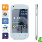 "K2 Android 2.3 GSM Bar Phone w/ 3.9"" Capacitive Screen, Dual-Band, Wi-Fi and Dual-SIM - White"