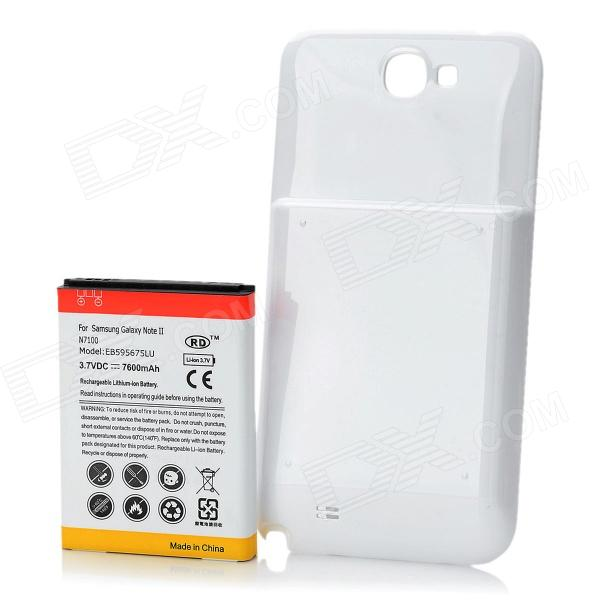 все цены на Replacement 3.7V 7600mAh Extended Battery w/ Battery Cover for Samsung Galaxy Note II N7100 - White онлайн