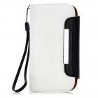 KALAIDENG Protective PU Leather Case w/ Card Holder for HTC T528t One ST - White + Black