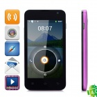 "Lanstar L518 Android 4.0 GSM Bar Phone w/ 4.3"" Capacitive Screen, Wi-Fi, Dual-Band - Purple"