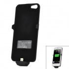 Backup 2500mAh Rechargeable External Battery Back Case for iPhone 5 - Black