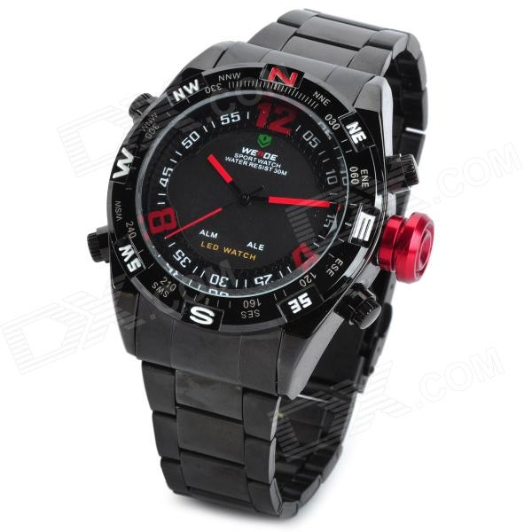 WEIDE WH2310 Sports LED Digital + Analog Quartz Wrist Watch for Men - Black Fort Lauderdale New search