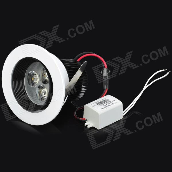 3W Warm White Light Ceiling Lamp - White (AC 100~240V) - DXCeiling Light<br>Material: Aluminum - Color: Warm white - Quantity: 1 - Voltage: 100~240V - Bulb interface: Cable - Power: 3W - Output: DC300~330mA - Outer diameter: 9cm - Hole size: 7cm - Suitable for restaurants hotels KTV art galleries and use in many household applications<br>