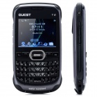 "QUEST T2 2.7"" LCD Dual SIM Dual Standby Water Resistant Rugged Mobile Phone w/ Wi-Fi / TF - Black"