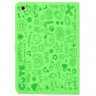 Cute Patterns Flip-Open PU Leather Case for Ipad MINI - Green
