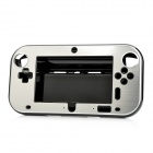Protective Plastic + Aluminum Alloy Cover Case for Wii U GamePad - Silver + Black