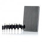 External 12000mAh Emergency Power Battery Charger w/ 8 Adapters for iPhone / Cell Phone - Black