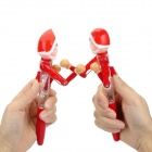 Fighting Santa Claus Doll Plastic Lighting Ballpoint Pens - Red (2 PCS)