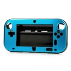 Protective Plastic + Aluminum Alloy Cover Case for Wii U GamePad - Black + Blue