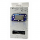 Protective Plastic + Aluminum Alloy Cover Case for Wii U GamePad - Black
