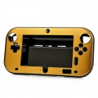 Protective Plastic + Aluminum Alloy Cover Case for Wii U GamePad - Golden + Black