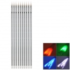 60W 8000lm 720-SMD 5050 LED Meteor Rain 10-Tube RGB Light Lamp - Transparent (DC 12V)