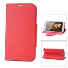 Protective PU Leather Super Slim Stand Case for Samsung N7100 - Red