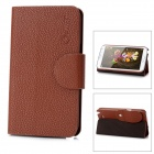 Alis Protective PU Leather Case for Samsung Galaxy Note II N7100 - Brown