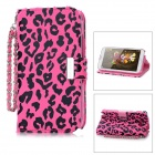 KALAIDENG Leopard Grain Pattern Protective PU Case Flip-Open Case w/ Card Slot for Samsung N7100