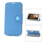 Litchi Grain Protective Flip-Open PU Leather Case for Samsung Galaxy Note II N7100 - Blue