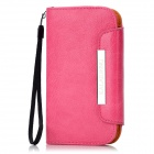 KALAIDENG Protective PU Leather Case w/ Card Holder for HTC T528t One ST - Deep Pink