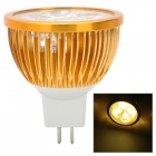 GX5.3 4W 360LM 4-SMD LED Warm White Light Bulb (12V)