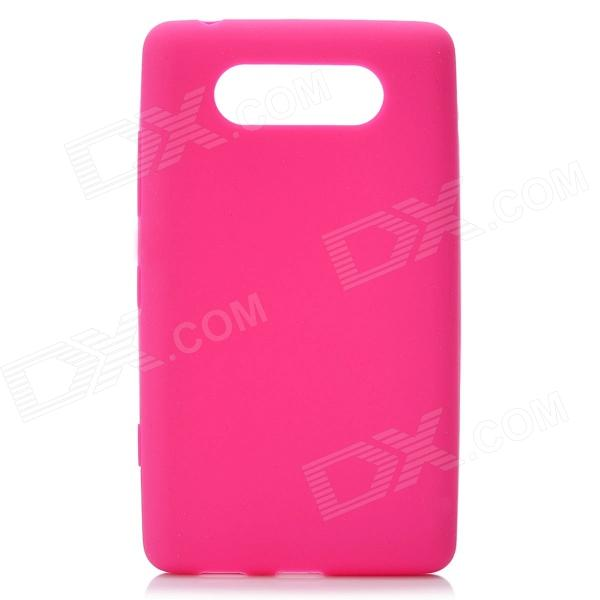 все цены на Concise Protective Soft Silicone Back Cover Case for Nokia Lumia 820 - Deep Pink онлайн