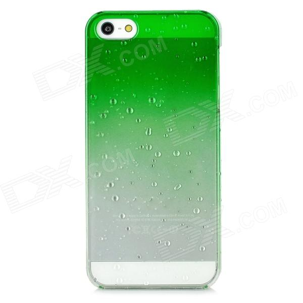 Water Drop Style Protective Plastic Back Case for Iphone 5 - Green