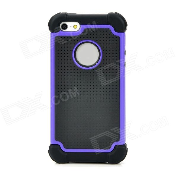 Detachable Design Protective Back Case for Iphone 5 - Purple + Black