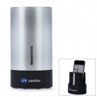 Portable Automatic UV Sanitizer for Cell Phone - Black + Silver (3 x AA)