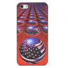 US Flag Ball Pattern Protective Back Case for Iphone 5 - Multicolored