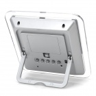 MJ032 LED Sound Control Mirror Clock - Transparent White + Silver