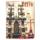 Pairs European Style Architecture Pattern PU Leather Case for Ipad 4 - Multicolored