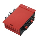 Mini Aluminum Alloy 2-Channel 100W Hi-Fi Stereo Home / Car Amplifier - Red (DC 12V)