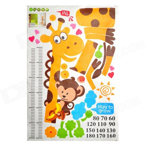 DIY Giraffe Style Height Measuring Ruler Pattern Self-Adhesive Wall Sticker - Muliticolored cinnamoroll twin star melody washi tape adhesive tape diy scrapbooking sticker label masking craft tape