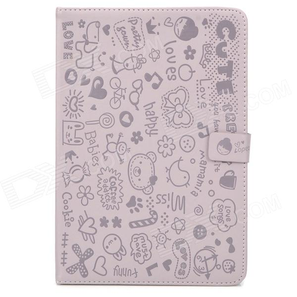 Cute Cartoon Style Protective PU Leather Case for Ipad MINI - Grey