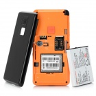 Heacent HC601 GPS Safety Mobile Phone for Elderly - Black + Orange
