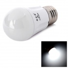JOYDA JOY-QPM-03 E27 3W 6000K 200lm White 4-LED Light Bulb - White + Silver (90~260V)