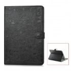 Cute Pattern Protective PU Leather Case for iPad Mini - Black