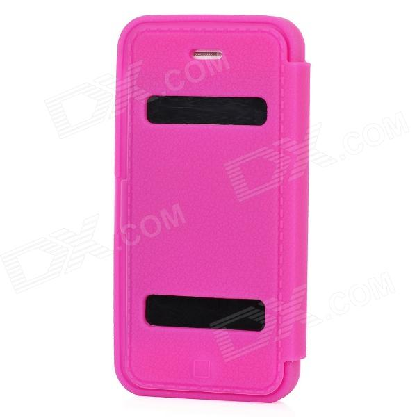 Protective Soft Silicone Case w/ Cover for Iphone 5 - Deep Pink protective silicone soft back case cover for iphone 5 white