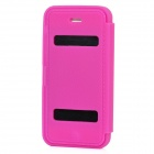 Protective Soft Silicone Case w/ Cover for iPhone 5 - Deep Pink