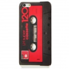 Cassette Pattern Protective Back Case for Iphone 5 - Black + Red