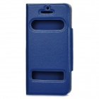 Fashion Protective Flip-Open PU Leather Case for Iphone 5 - Deep Blue