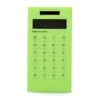 "AQ408 1.8"" LCD Display Solar Powered 10-Digit Electronic Calculator - Green"