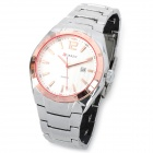 CURREN 8103 Fashion Men's Stainless Steel Band Quartz Wrist Watch w/ Calendar - White (1 x 626)