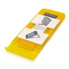 Folding Plastic Desktop Stand for Ipad / Iphone / Tablet PC - Yellow