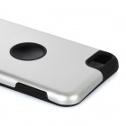 Protective Aluminum Alloy + Silicone Back Case for Ipod Touch 5 - Silver