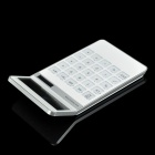 AQ436 LCD Display Dual Powered 10-Digit Pocket Calculator - White