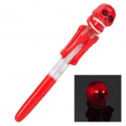 Creative Skull Boxing Style 2-LED Red Light Ball-Point Pen - Red (2 x AG3)