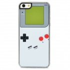 Retro Game Boy Style Protective Plastic Back Case for Iphone 5 - White + Black + Grey