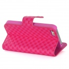 Modelo cuadrado Protective PU Leather + PC-flip abierto w / hebilla para el Iphone 5 - de color rosa oscuro