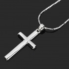 KCCHSTAR BK-5233 Cross Pendant Artificial Diamond Alloy Necklace - Silver